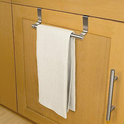 New Stainless Steel Over The Cabinet Door Expandable Towel Bar Kitchen Bath