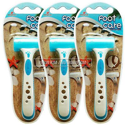 3 PCS DORCO SGA100 Foot Care Razor Callus Shaver Safe Sanitary Non Slip Pad