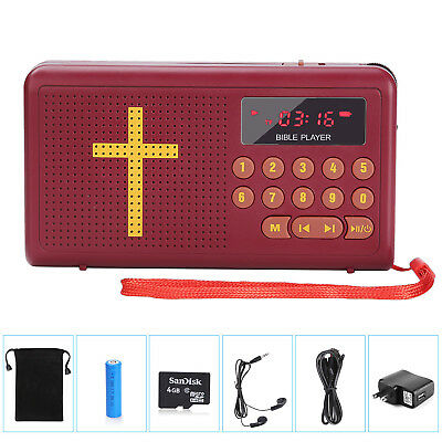 Talking Audio Bible Player King James Version As Seen on TV with Carrying Bag TF
