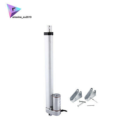 New 12 Inch Stroke Linear Actuator 900n225lbs Pound Max Lift 12v Volt Dc Motor