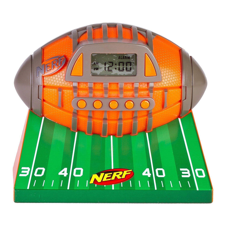Nerf N-Strike Alarm Clock AM/FM Radio Aux-In Snooze 52356-TRU