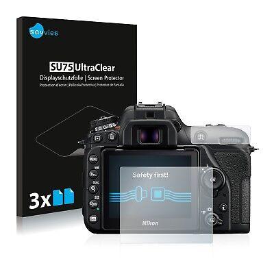 6x Displayschutzfolie für Nikon D7500 Schutzfolie Klar Folie Displayfolie