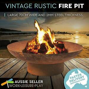 70cm Rusted Fire Pit Outdoor Open Fireplace Patio Heater Plant Perth Perth City Area Preview