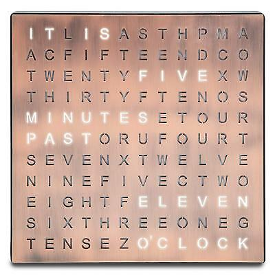 FANTASTIC LED WORD CLOCK WITH COPPER FINISH