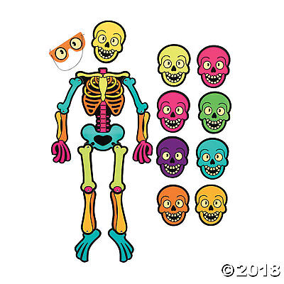 Halloween Party Balloon Games (HALLOWEEN PARTY GAME PIN THE SKULL ON THE SKELETON WALL DECORATION CUTOUT)