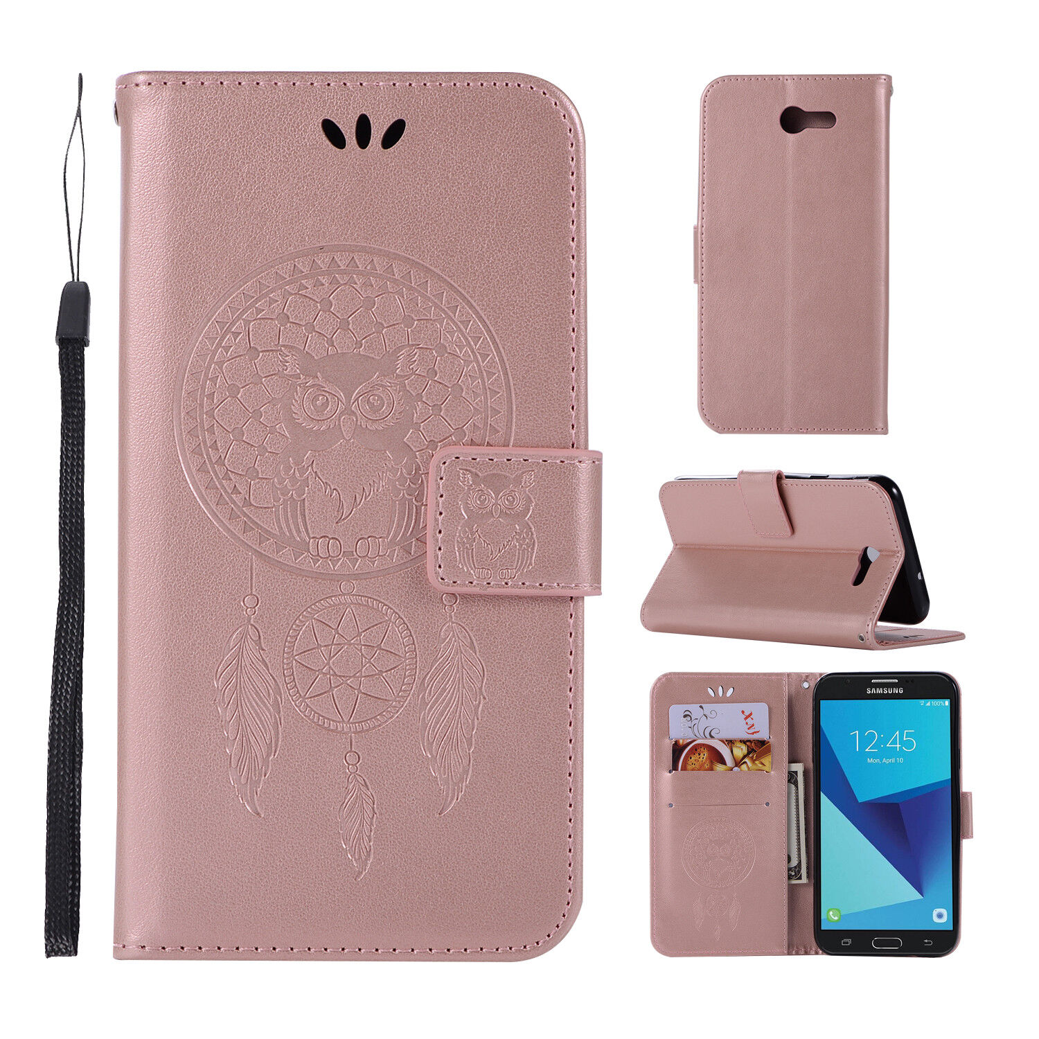 222ede75670 For Samsung Galaxy J7 Prime J7 2017 Genuine Wallet Leather Fold Stand Case  Cover