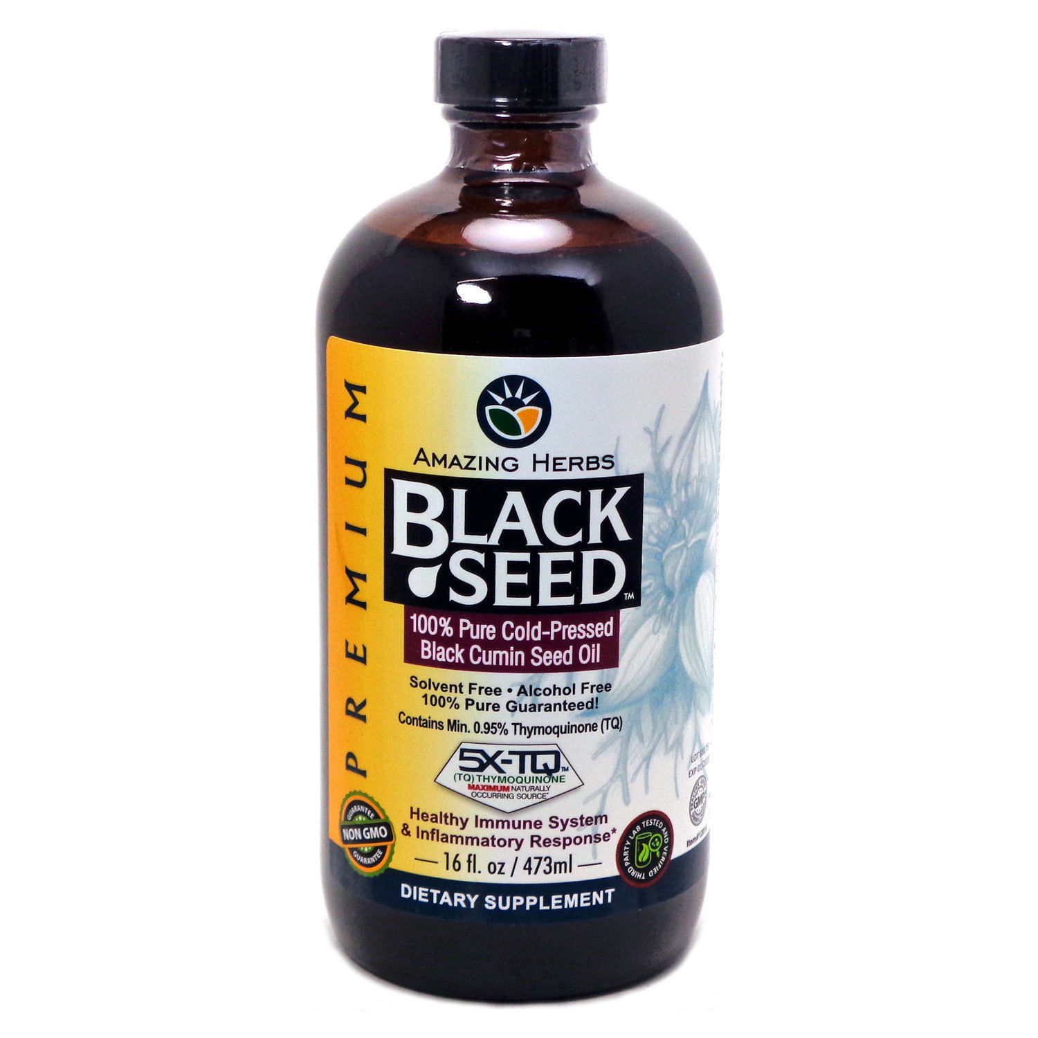 Amazing Herbs Cold-pressed Black Cumin Seed Oil For Immun...