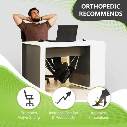 Foot Hammock For Under Desk, Adjustable Desk Foot Rest Hammock Office Under desk