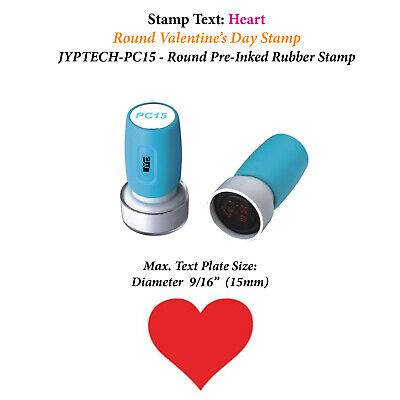 Heart Stamp-pc15 Pre-inked Rubber Valentines Day Stamp Red Ink