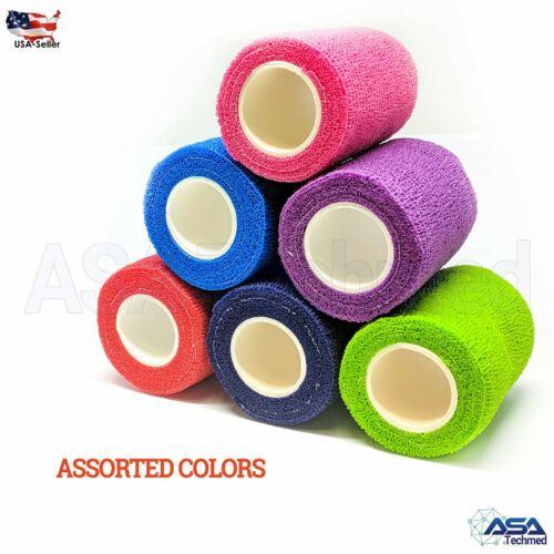 "3"" x 5 yard  12 Rolls - Assorted Colors"