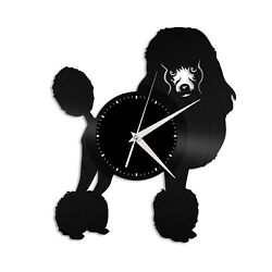 Poodle Vinyl Wall Clock Record Famous Animal Best Gift Dog Lover Home Decoration