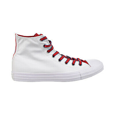 All Star Navy High Top (Converse Chuck Taylor All Star High Top Mens Shoes White/Gym Red/Navy)