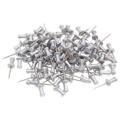 Aluminium Head Push Pins 58 Inch Steel Point Box Of 100