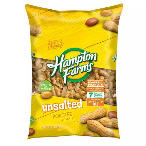 Hampton Farms Unsalted In-Shell Peanuts (5lbs) NEW