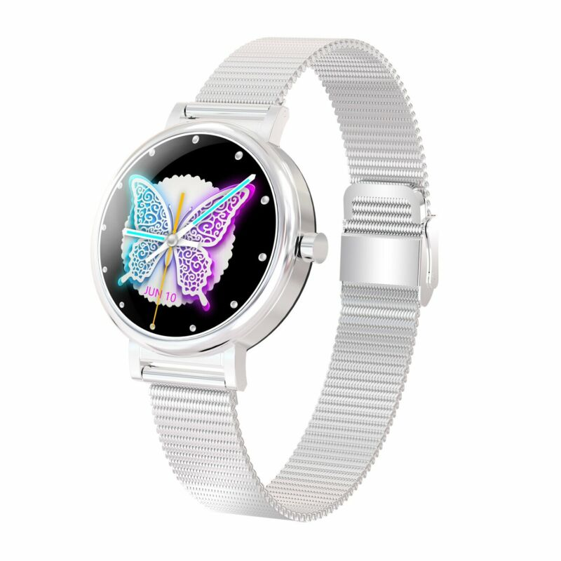 Smart+Women+LW06+Fashion+Watch+Waterproof+IP68+for+Android+and+IOS+Silver+
