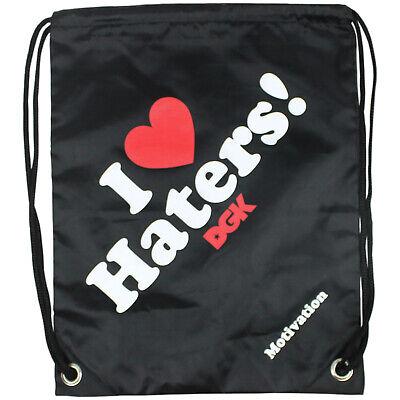 DGK Skateboard Backpack Cinch Bag Haters Black