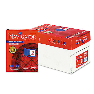 Navigator Premium Multipurpose Paper 97 Brightness 3-Hole Punch 20lb Ltr WE 5000