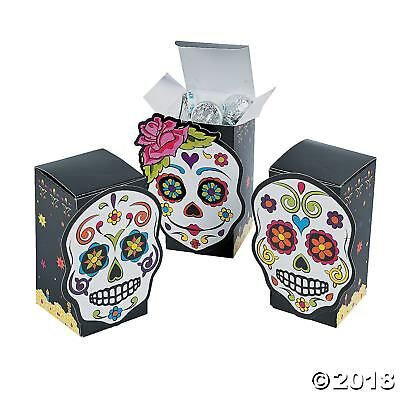 12 DAY OF THE DEAD FAVOR BOXES HALLOWEEN MEXICAN FIESTA PARTY TABLE DECORATION