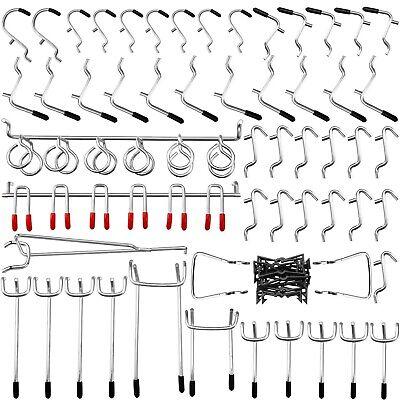 Pegboard Hooks Assortment 54pcs Pegboard Hook Organizer Accessories Set With...