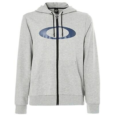 Oakley Ellipse FZ Mens Zip Up Hoody Granite Heather MD