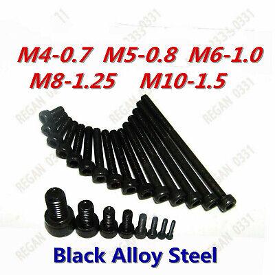 M4 M5 M6 M8 M10 Black Alloy Steel Allen Hex Socket Cap Head Screw Bolt Gr 12.9