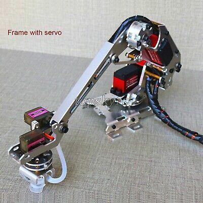 6 Axis Robotic Arm Multi-dof Manipulator Industrial Mechanical Arm Kit W Servo