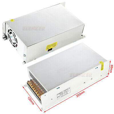 2x Dc 12v 50a 600w 110v 220v Regulated Transformer Power Supply Led Strip Light