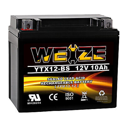 Weize YTX12-BS High Performance-Maintenance Free-Sealed AGM Motorcycle Battery