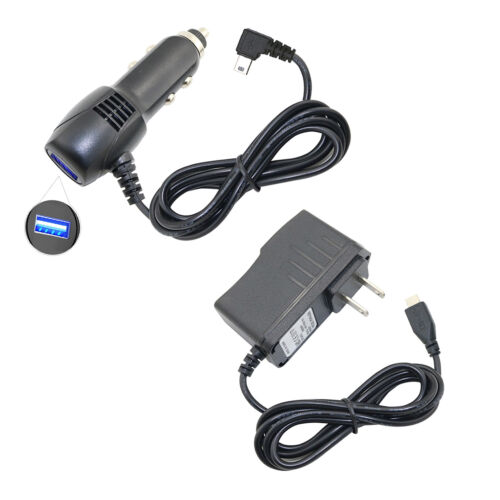 USB Car Charger + AC/DC Power Adapter For Garmin Drive Smart 61 LM 61 LMT-S GPS