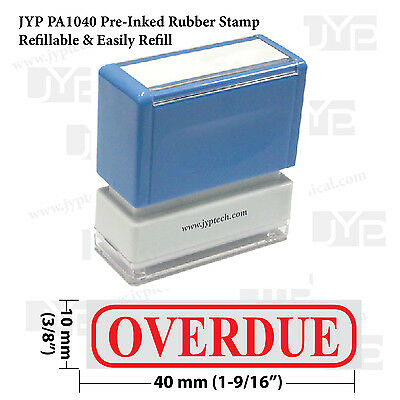 Jyp Pa1040 Pre-inked Rubber Stamp With Overdue