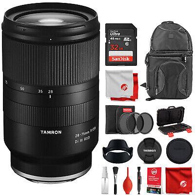 Tamron 28-75mm F/2.8 for Sony Mirrorless Full Frame E Mount Lens Backpack Kit