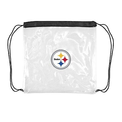 Pittsburgh Steelers Football Logo NFL Stadium Approved Clear Cinch String - Clear Cinch Bag