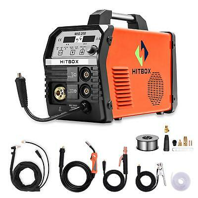 Hitboxe Inverter Mig Arc Tig Welder Gas Gasless 220v Mig Tig Arc Welding Machine