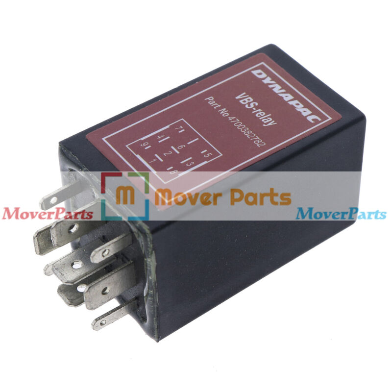 Roller Grader VBS Relay 9 Pins 4700382782 For Dynapac 382782 CC422 CC522 CC622