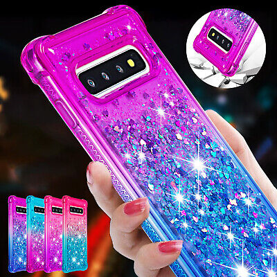 For Samsung Galaxy S8 S9 S10 Note 10 Plus Phone Case Glitter Soft Rubber Cover