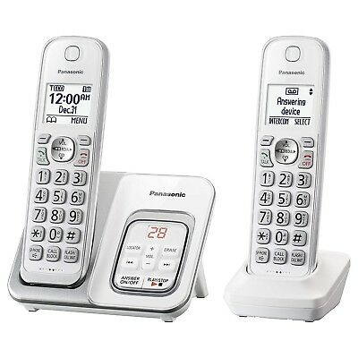 Home Phone Cordless System With Answering Machine Digital Waiting 2 Handsets NEW