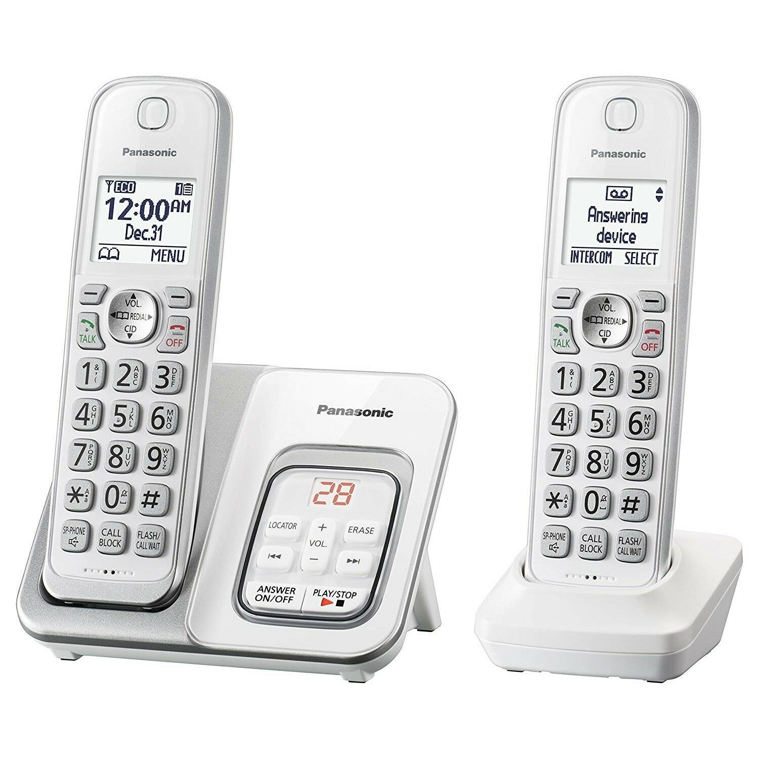 Home Phone Cordless System With Answering Machine Digital Wa