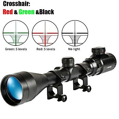 Riflescopes Rifle Scope 2-6x32 Aoe Red Green Mil-dot Short Adjustable Sight Scope With Picatinny Rail Mount 20mm For Hunting