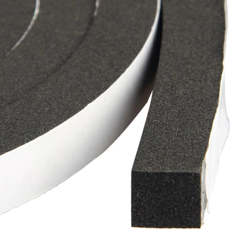 """Window Insulation Weather Stripping 1/2"""" Wide X Thick Closed Cell Foam Tape Adhe"""