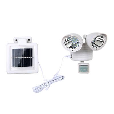 New White Solar Powered Motion Sensor Light 22 SMD LED Garage Outdoor Waterproof