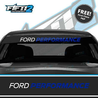 Ford Performance Focus Universal Sunstrip Zetec RS Sun Strip Decal ST BLUE