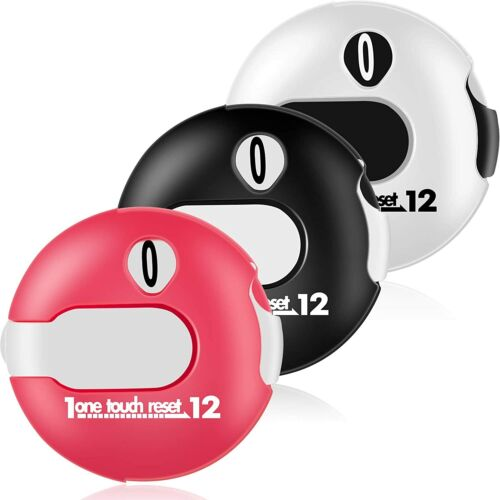 3 Pieces Mini Golf Stroke Counter Scoring Keeper up to 12 Shots Score for Sports
