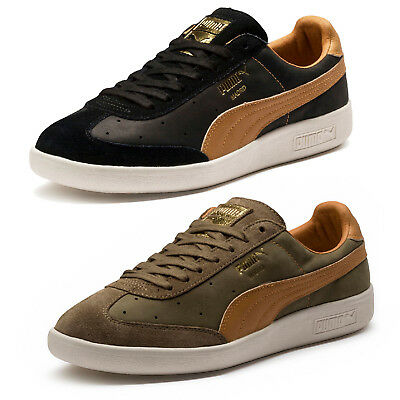 New Puma Madrid Tanned Mens Leather Sports Casual Trainer Shoes - 65% Off Sale