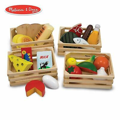 Melissa & Doug Food Groups Wooden Play Food 25 Piece Toy Playset
