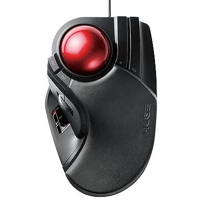 Japan Elecom Trackball mouse Large M-HT1URBK -Direct from Japan-