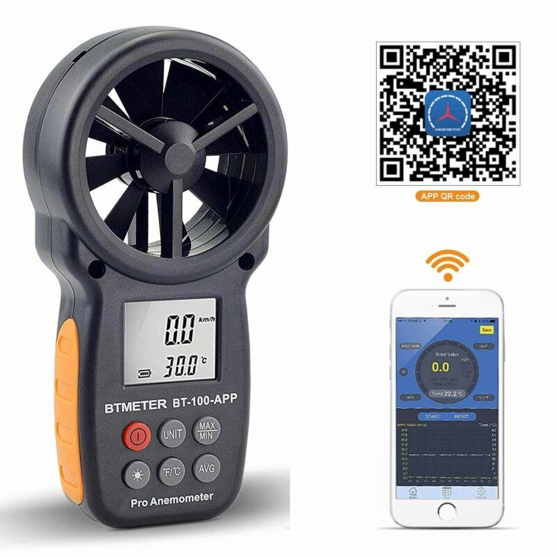 Digital Anemometer Air Flow Meter LCD Wind Speed Gauge Bluetooth APP Test 30m/s