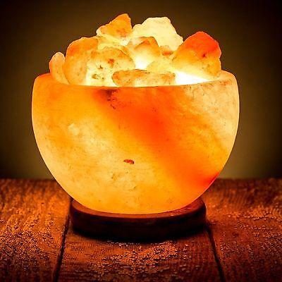 Himalayan Salt Lamp Natural Gift Light Crystal Pure Rock Fire Bowl Purifies Air