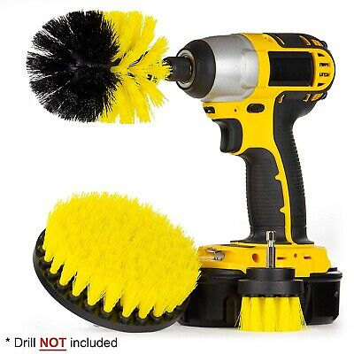 3PCS Brush For Drill Kit for Car Carpet wall and Tile cleaning