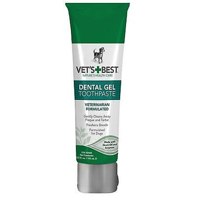 Vet's Best Enzymatic Dental Gel Toothpaste For Dogs USA Made Pet Dental Care New