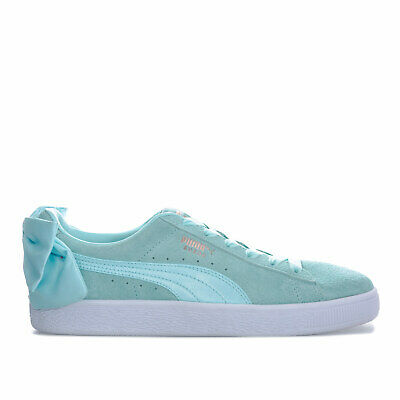 Womens Puma Suede Bow Trainers In Island Paradise